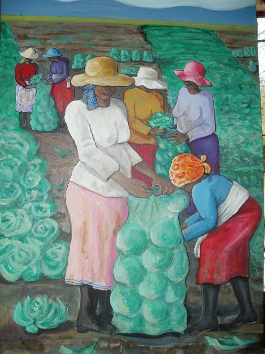 cabbage pickers - Michelle Daykin Art