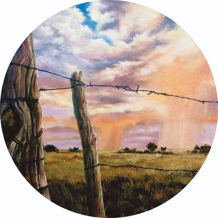 Old Fence - Louise van Wyk - Art