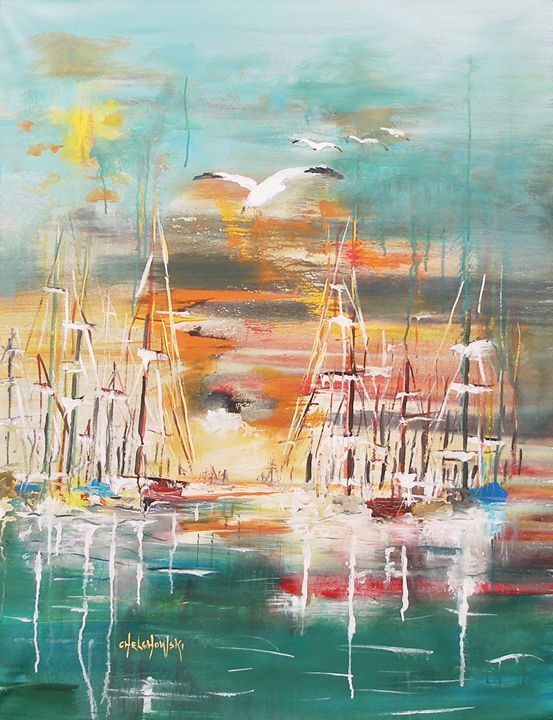 ready to sail away - art paintings by miroslaw chelchowski
