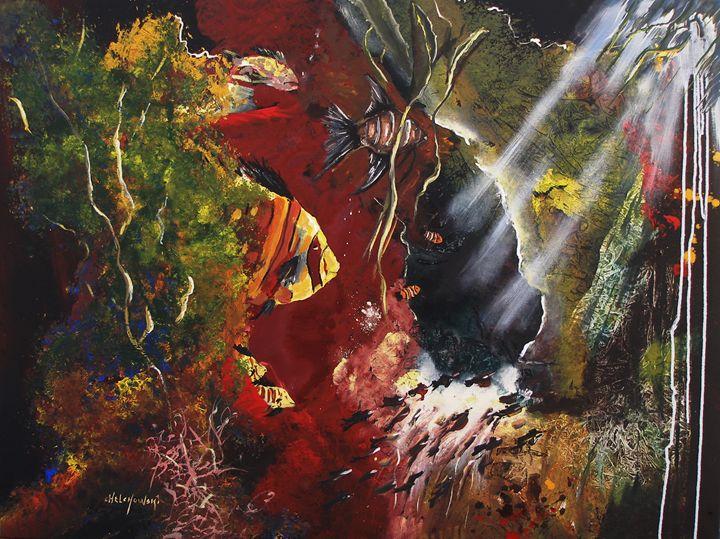 deep in the sea - art paintings by miroslaw chelchowski