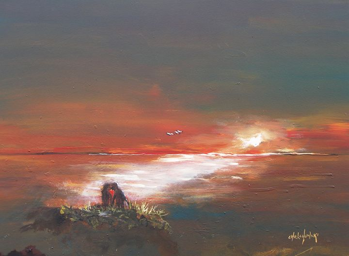 under the sunset - art paintings by miroslaw chelchowski