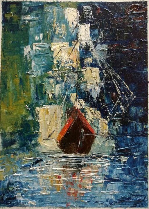 Ship Abstract - paint_quaint