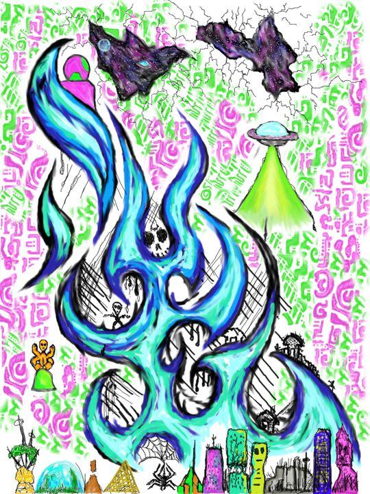 Salvation Threw Liquid Fire - Chaotic Art