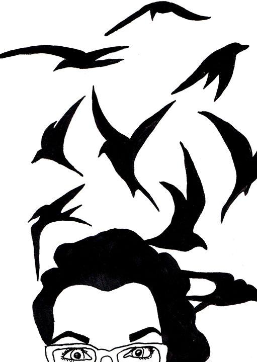 Head full of birds - Bronwyn Garfirth
