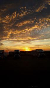 Truckers Texas Sunrise