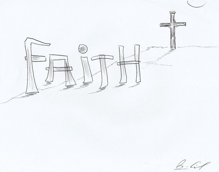 Faith - Surrealist Art by Brian Cirola