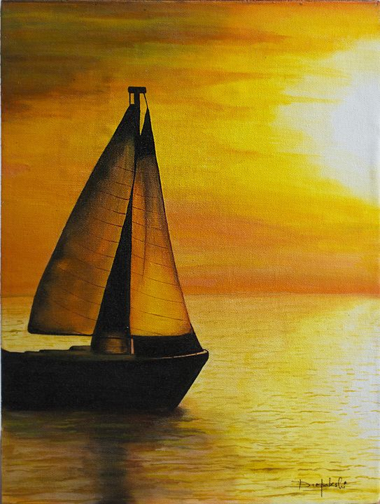 Sepian Sea - Acrylic on Canvas by Deepakshi