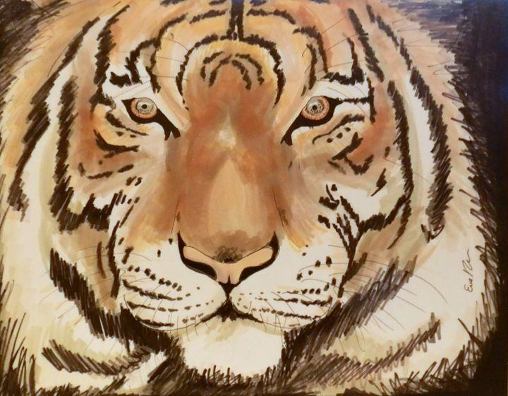 Le tigre - Eve DL artiste peintre