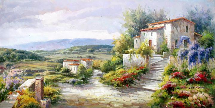 Tuscany Springtime Vista - Lucio Campana