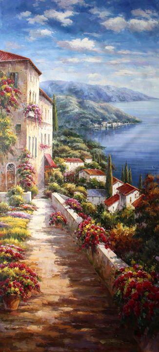 Flower Garden Tuscany Italy - Lucio Campana