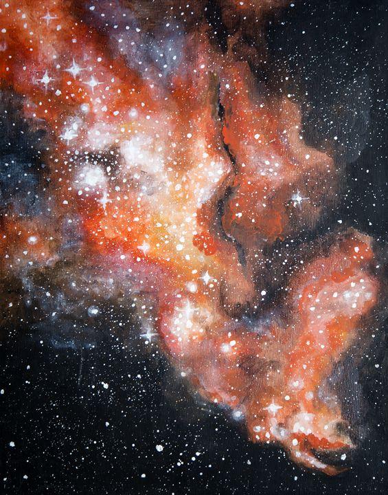 Red space-scape - chelseawellsart