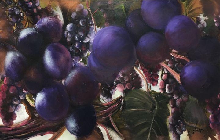 Grapes on a vine - Chuck Gebhardt