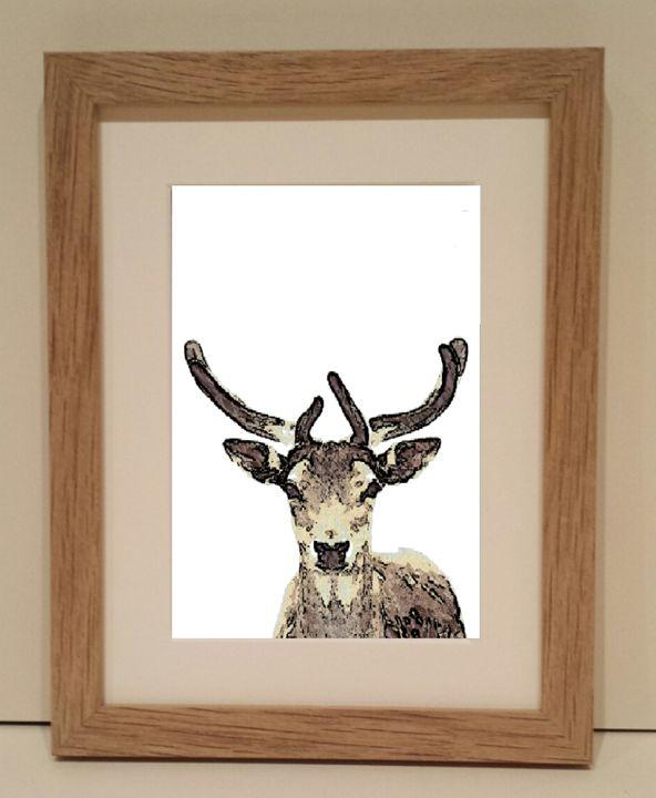 Reindeer Looking - artbyhew