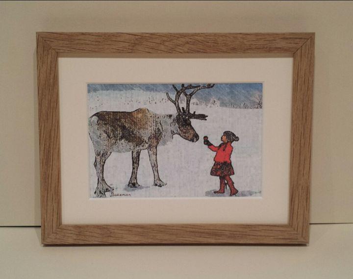 Reindeer & Girl - artbyhew