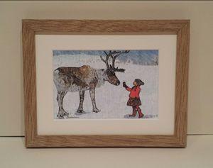 Reindeer & Girl