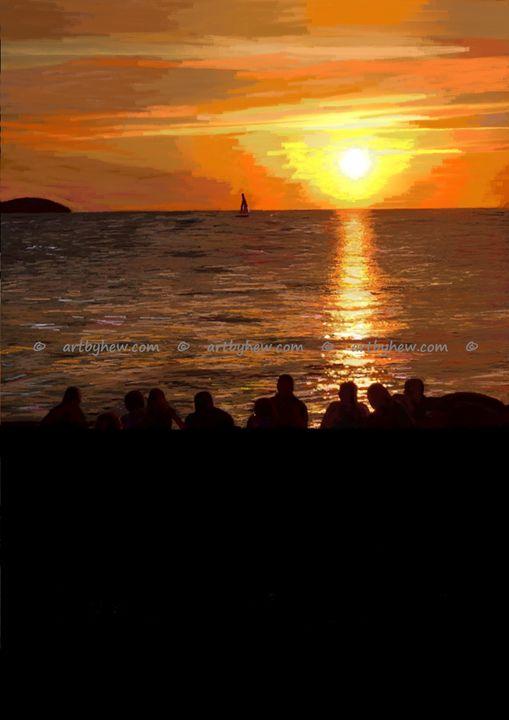 Life Is A Beautiful Sunset - artbyhew