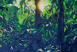 Sunrise in the jungle 1.53mX1.02m