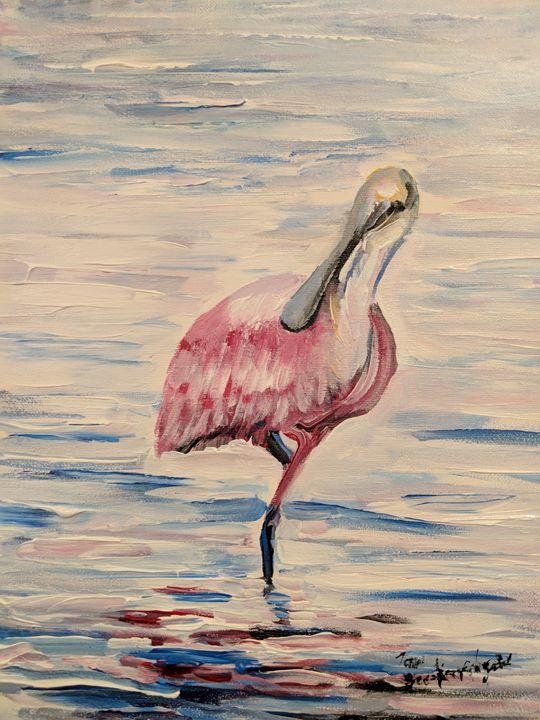 Roseate Spoonbill - Tom Breckenridge