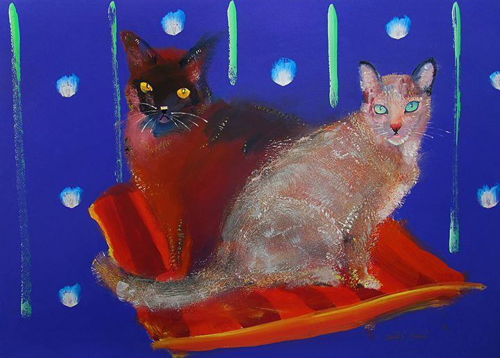Posh Cats - charles stuart