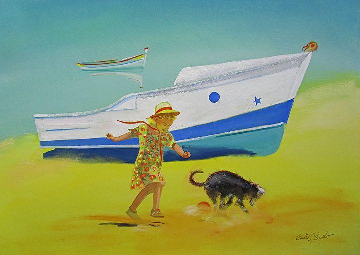Blue Algarve Boats - charles stuart