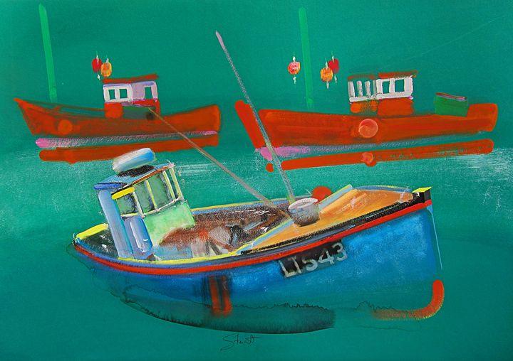Fishing Boats At Walberswick - charles stuart