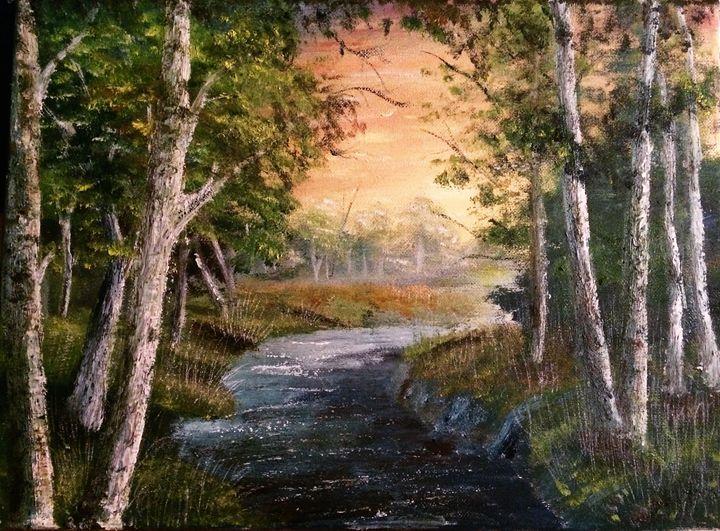 Birch tree forest - Kris Artwork