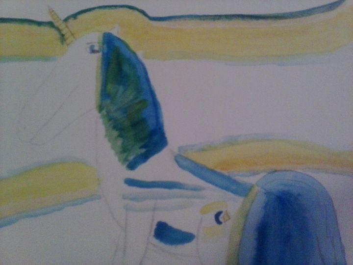 peaceful unicorn - Erica's Art
