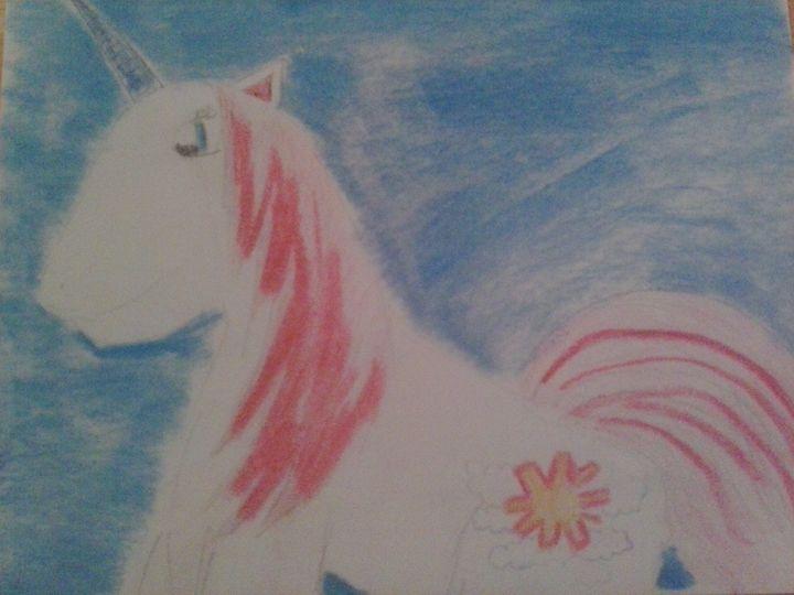pink maine unicorn - Erica's Art