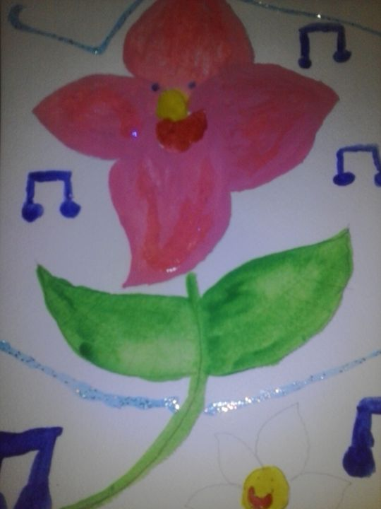 happy singing flower - Erica's Art