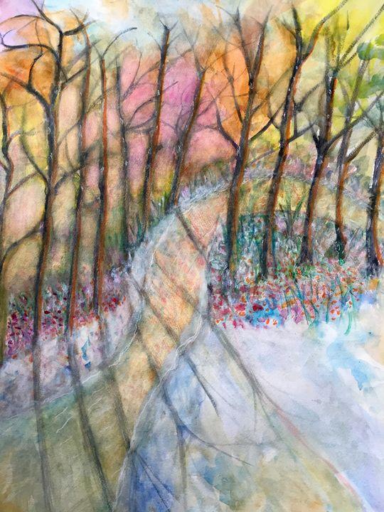 snow in new forest - myrnap