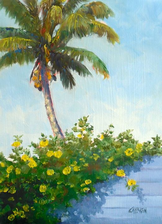 Coconuts and Allamandas - Carmen Beecher
