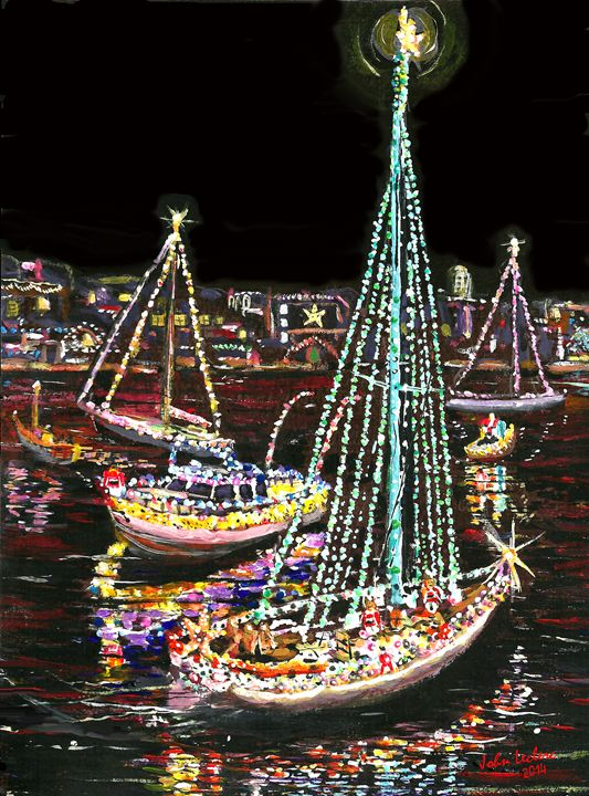 Newport Beach Christmas Boat Parade - ArtbyLeclerc