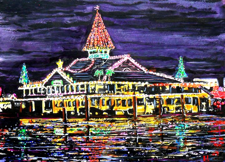 Newport Beach Christmas - ArtbyLeclerc