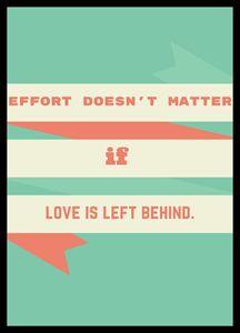 Effort Doesn't Matter