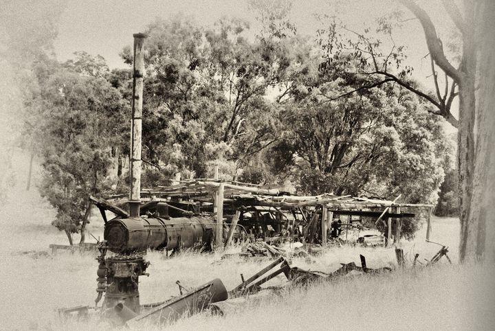 Steam driven sawmill. - Adbetron