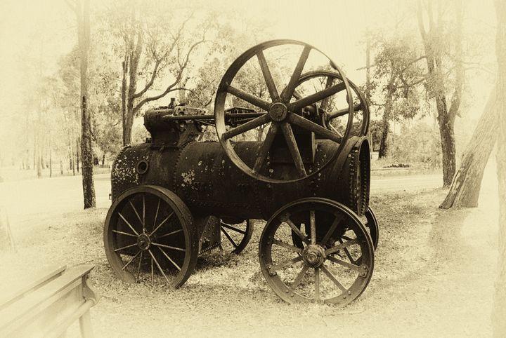 Old Steam Loco - Adbetron
