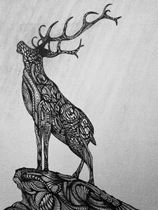 Abstract Stag Silhouette