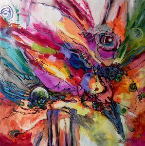 Abstract art ,original Bissinger