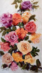 noble roses, original art Bissinger