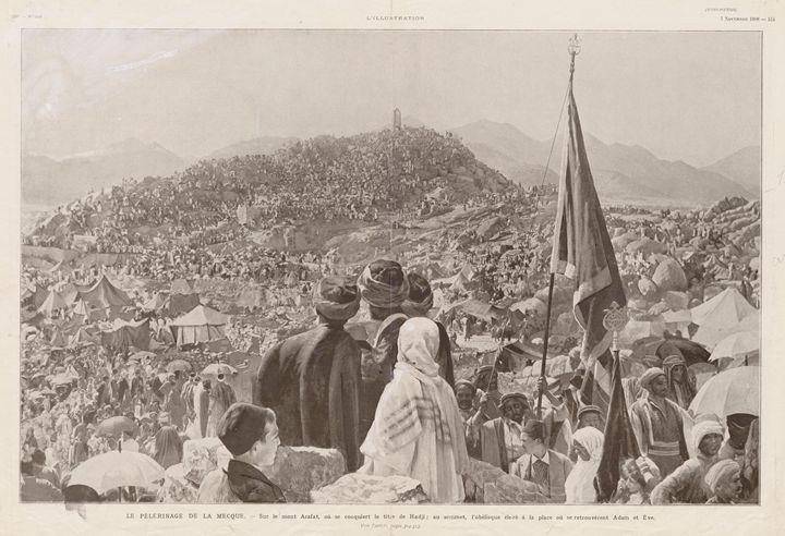 Ottoman-era Mount Arafat, 1908 - OttomanArchives