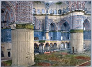 Interior of Sultanahmet Blue mosque - OttomanArchives