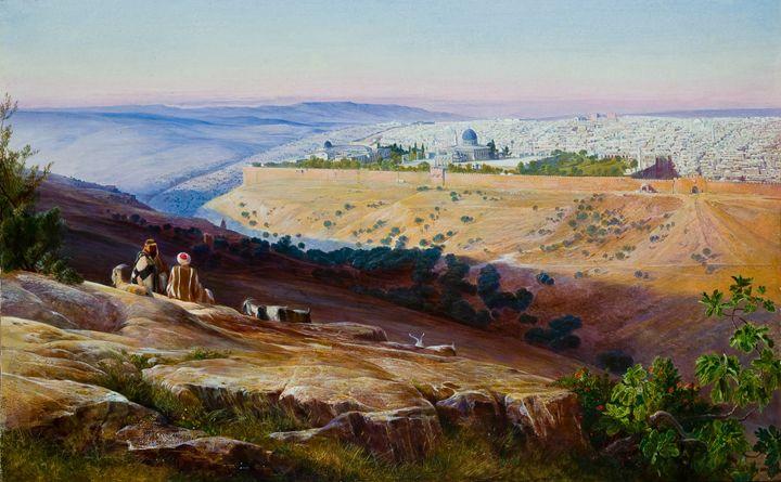 Jerusalem from the Mountain - OttomanArchives