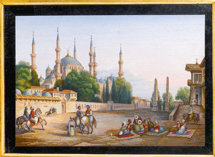 Sultan Ahmet blue mosque, 1838 - OttomanArchives