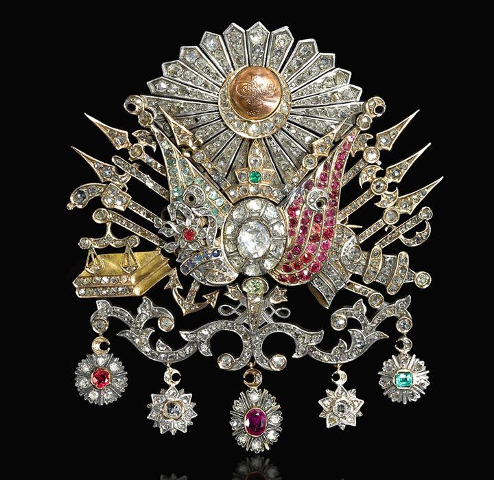 Ottoman diamond brooch pin, 1900. - OttomanArchives