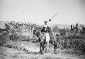 Ottoman Arab Bedouin with spear.