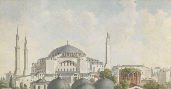 Hagia Sophia, Istanbul, 1875. - OttomanArchives
