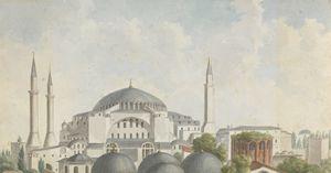 Hagia Sophia, Istanbul, 1875.