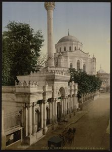 Pertevniyal Sultana mosque, 1890. - OttomanArchives