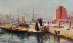 Karaköy, Ottoman Istanbul, 1900.