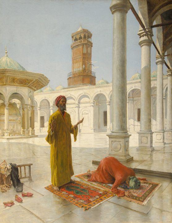 Prayer in Ottoman Egypt, 1902. - OttomanArchives